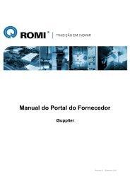 Manual do Portal do Fornecedor - Romi