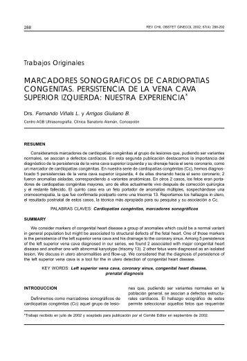 marcadores sonograficos de cardiopatias congenitas ... - SciELO