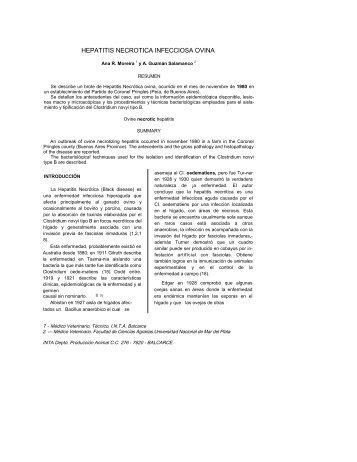 Hepatitis Necrótica - ovinos-caprinos
