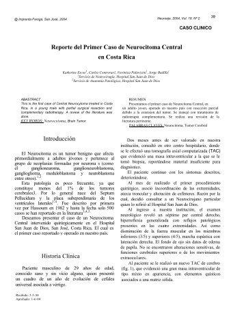 Reporte del Primer Caso Clínico de Neurocitoma Central ... - Binasss