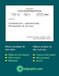 Cromomicosis esporotricoide. Presentación de un ... - edigraphic.com