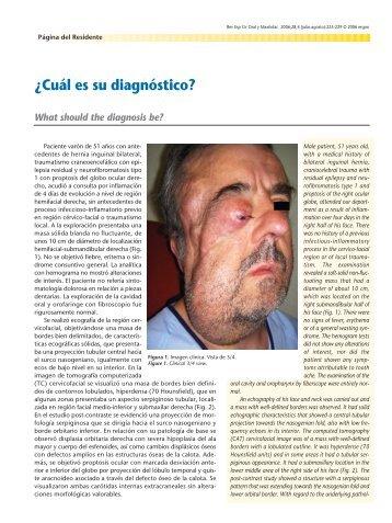 ¿Cuál es su diagnóstico? - SciELO España