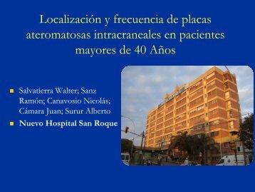 Localización y frecuencia de placas ateromatosas intracraneales en ...