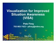 Visualization for Improved Situational Awareness - Mitre