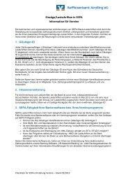 Information für Vereine - Raiffeisenbank Aindling eG