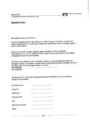 Musterbrief zur Anforderung IBAN/BIC - mehrsprachig