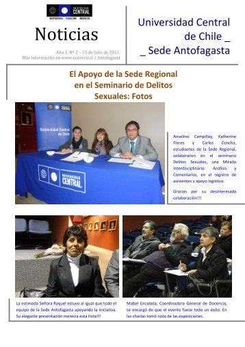 Noticias - Universidad Central de Chile