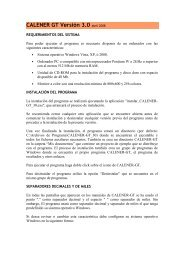 Histórico de versiones Calener GT V-2013/04/10 [PDF]