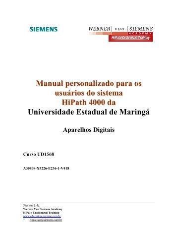 Manual de Facilidades - Aparelhos DIGITAIS - Pcu.uem.br