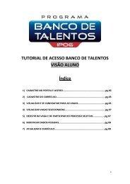 TUTORIAL DE ACESSO BANCO DE TALENTOS VISÃO ... - IPOG