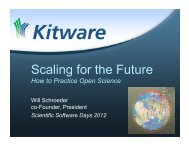 Scaling for the Future - Scientific Software Days