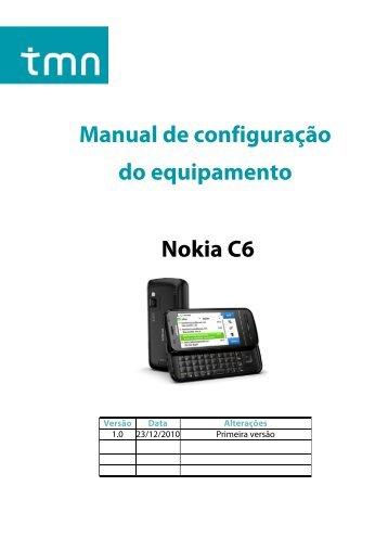 Configuração Nokia C6-00 - Tmn
