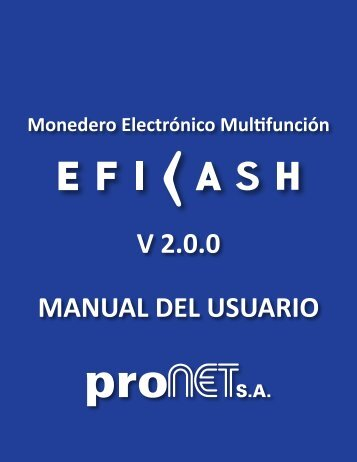 Manual Eficash - Pronet SA - Aqui Pago