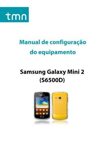 Configuração Samsung Galaxy mini 2 - Tmn
