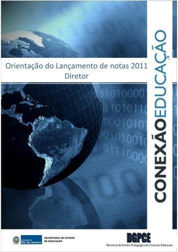 Orientação do Lançamento de notas 2011 Diretor