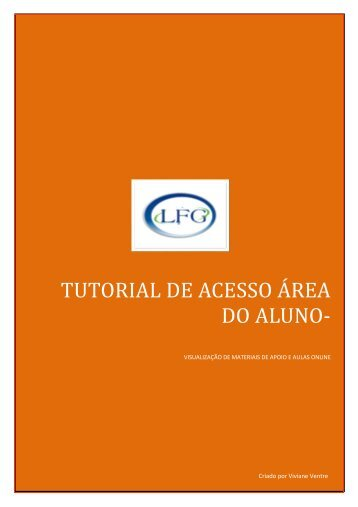 tutorial de acesso área do aluno - LFG