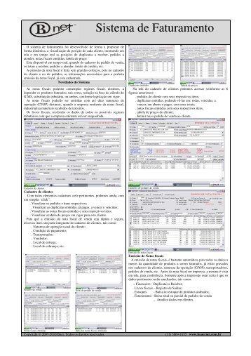 Sistema de Faturamento - BNET