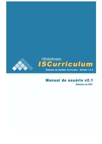 Manual do Usuário - Plataforma ISCurriculum