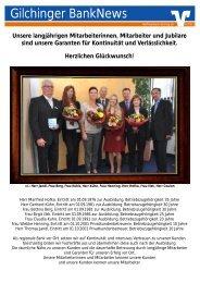Gilchinger BankNews 02/2011 - Raiffeisenbank Gilching eG