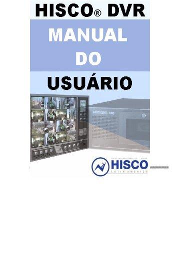 Hisco® DVR Series MANUAL DO USUÁRIO