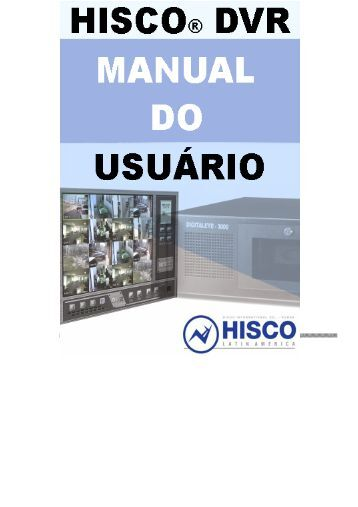 Hisco® DVR Series MANUAL DO USUÁRIO