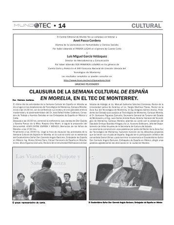 • 14 CULTURAL - Campus Morelia - Tecnológico de Monterrey