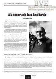 A la memoria de Juan José Narbón 4 - Paseo Virtual por Extremadura