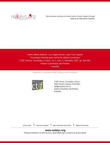 Redalyc.Tecnología infrarroja para control de calidad a productos