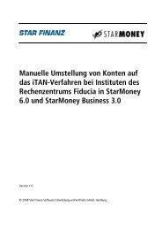 Umstellung auf iTAN in StarMoney 6.0 - VR-Bank Bayreuth