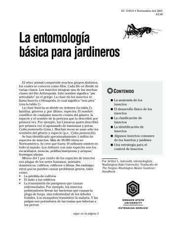 La entomología básica para jardineros - Oregon State University ...