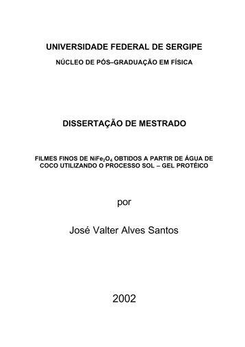 por José Valter Alves Santos - Departamento de Física
