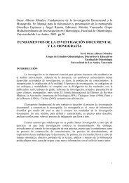 Fundamentos de la Investigación Documental - Saber ULA ...