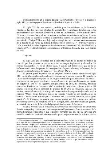 Multiculturalismo en la España del siglo XIII: Gonzalo de Berceo y la ...