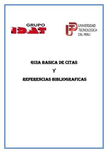 guia basica de citas y referencias bibliograficas - portal de ...