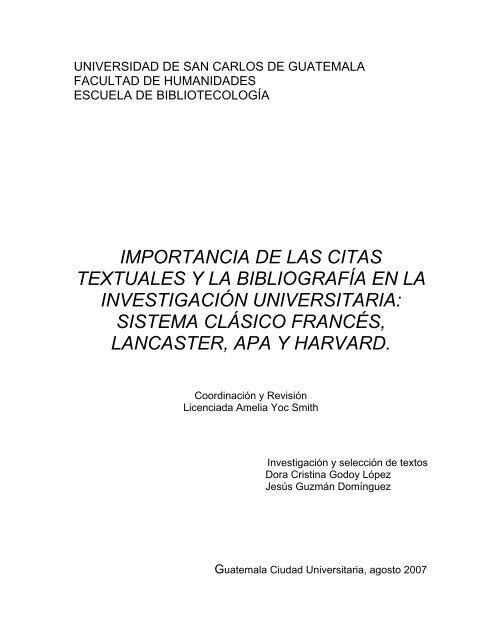Importancia De Las Citas Textuales Y La Bibliografía