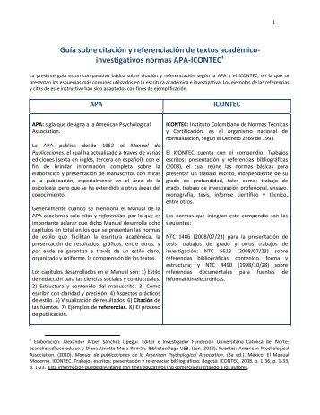 investigativos normas APA-ICONTEC - Fundación Universitaria ...
