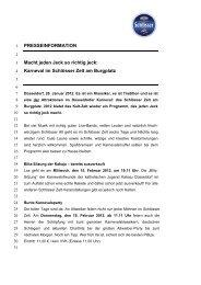 Karneval im Schlösser Zelt am Burgplatz - Radeberger Gruppe KG