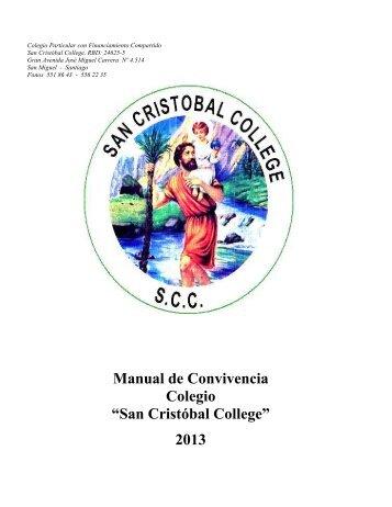 """Manual de Convivencia Colegio """"San Cristóbal College"""" 2013"""