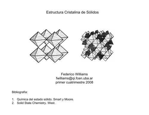 Teórica 07 Estructura Cristalina De Sólidos Ii