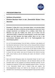 """""""Derendorfer Stuben"""" ihren Abschied - Radeberger Gruppe KG"""