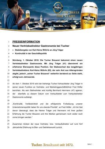 PRESSEINFORMATION Neuer Vertriebsdirektor Gastronomie bei ...