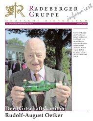 Rudolf-August Oetker - Radeberger Gruppe KG