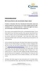 Pressemeldung von Corona Extra - Radeberger Gruppe KG
