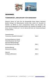 """themenreise """"kreuzfahrt für geniesser"""" - Radeberger Gruppe KG"""