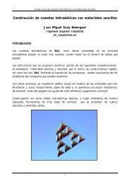 Construcción de cometas tetraédricas con materiales sencillos