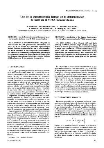 Uso de la espectroscopia Raman en la determinación de fases en el ...