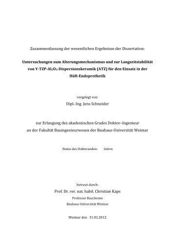 Dipl.-Ing. Jens Schneider - Bauhaus-Universität Weimar