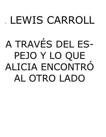 Lewis Carroll - A través del Espejo - v1.0