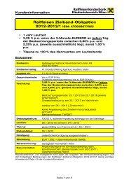 Zielband-Obligation 2012-2013_1 ... - Raiffeisen