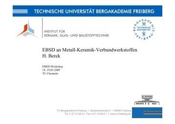 EBSD an Metall-Keramik-Verbundwerkstoffen H. Berek